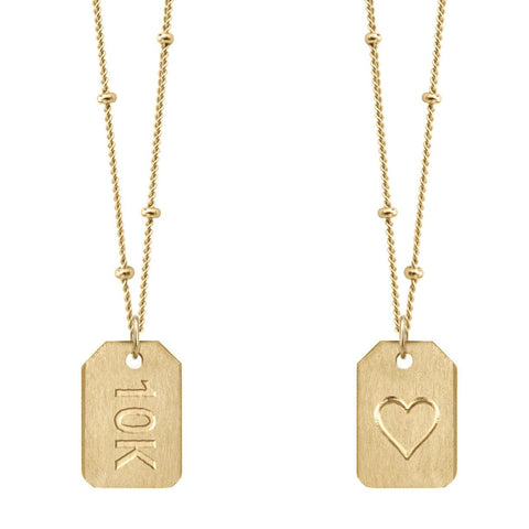 Love Tag Necklace - 10k