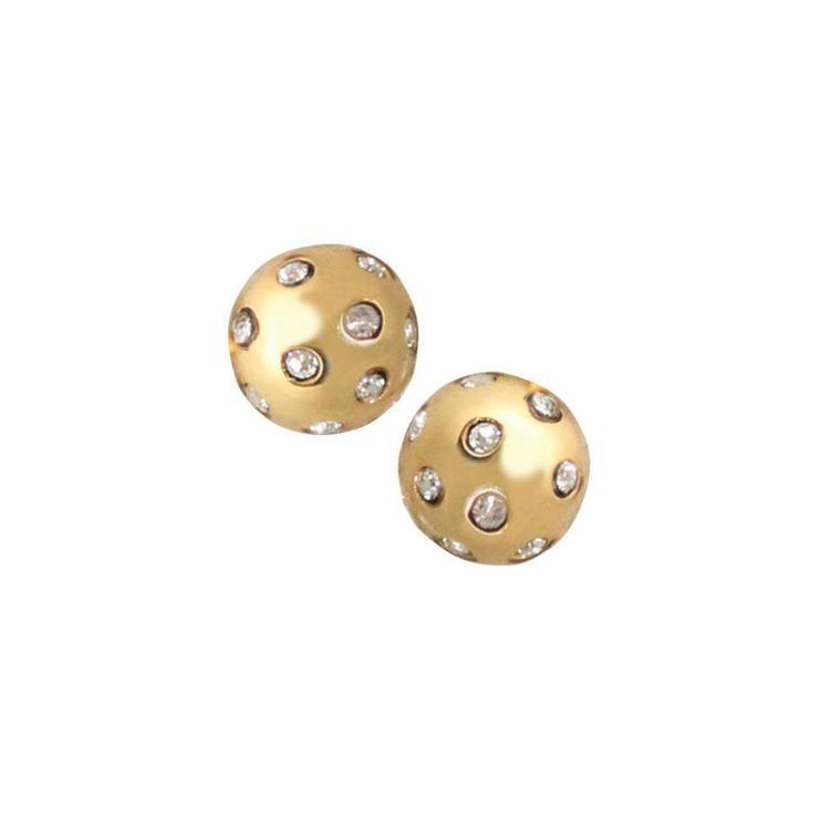 Gypsy Gold Crystal Ball Studs