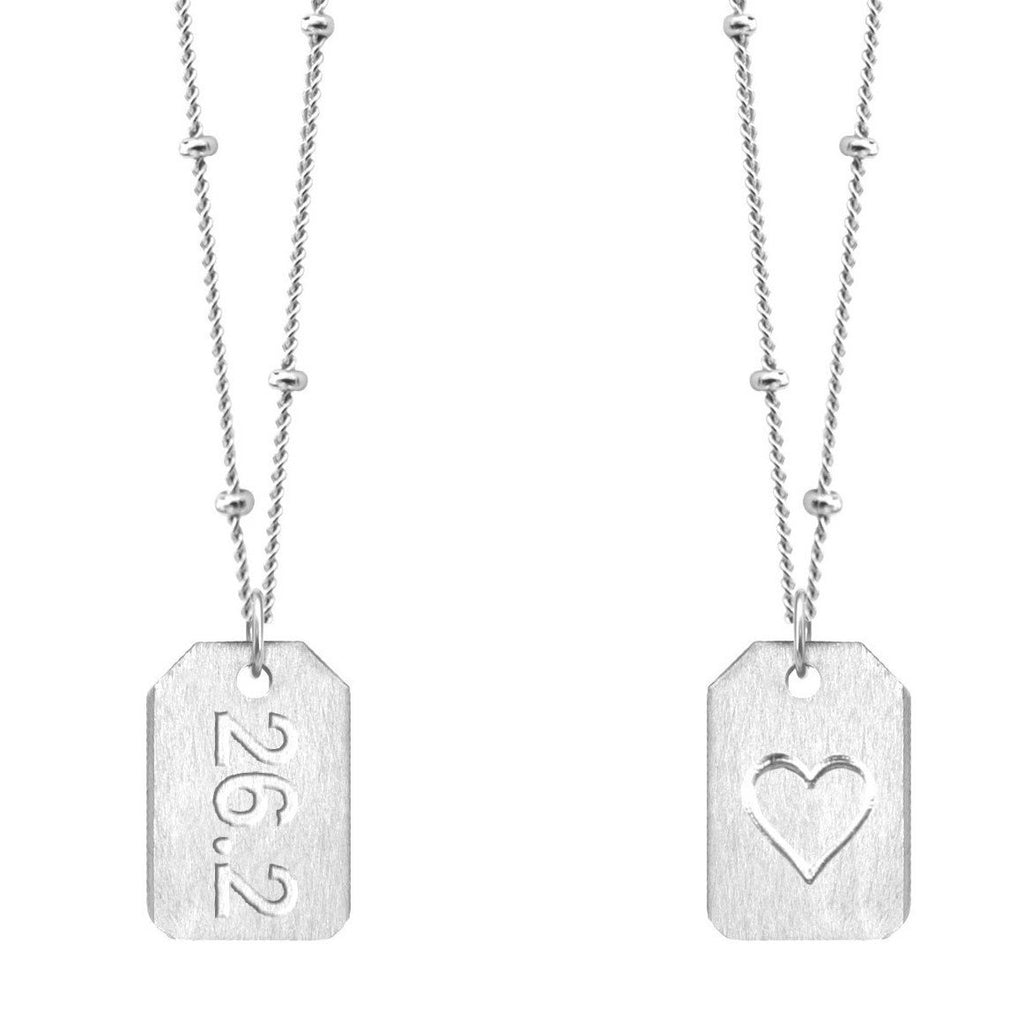 Chelsea Charles 26.2 Sterling Silver Love Tag Necklace