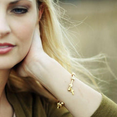 Count Me Healthy Golden Grace Bracelet with Cross Charm