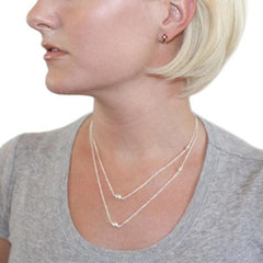Miranda Double Layer Silver Necklace by Chelsea Charles