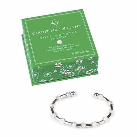 Golf Goddess Silver Stroke Counter Bracelet (As Seen In Golf Digest)
