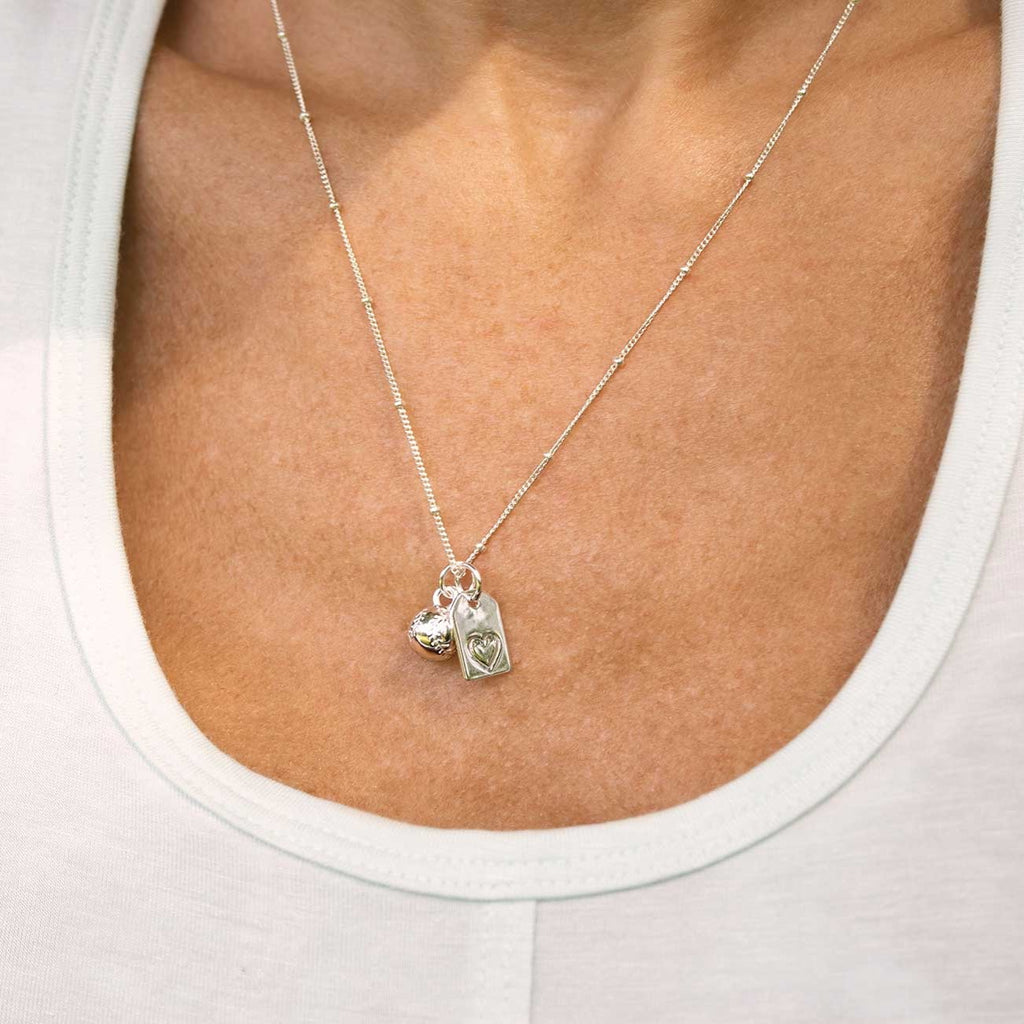 CC Sport Silver Baseball Mom Necklace by Chelsea Charles
