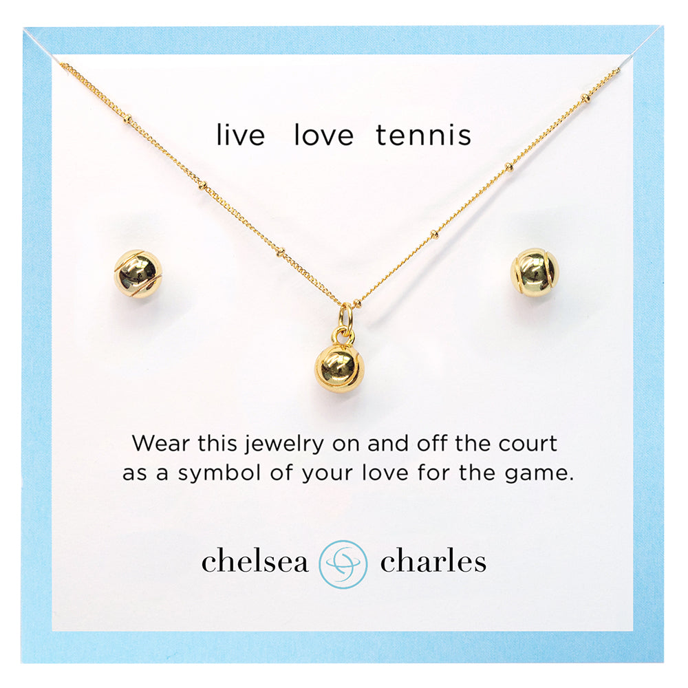 CC Sport Tennis Necklace and Earring Gift Set