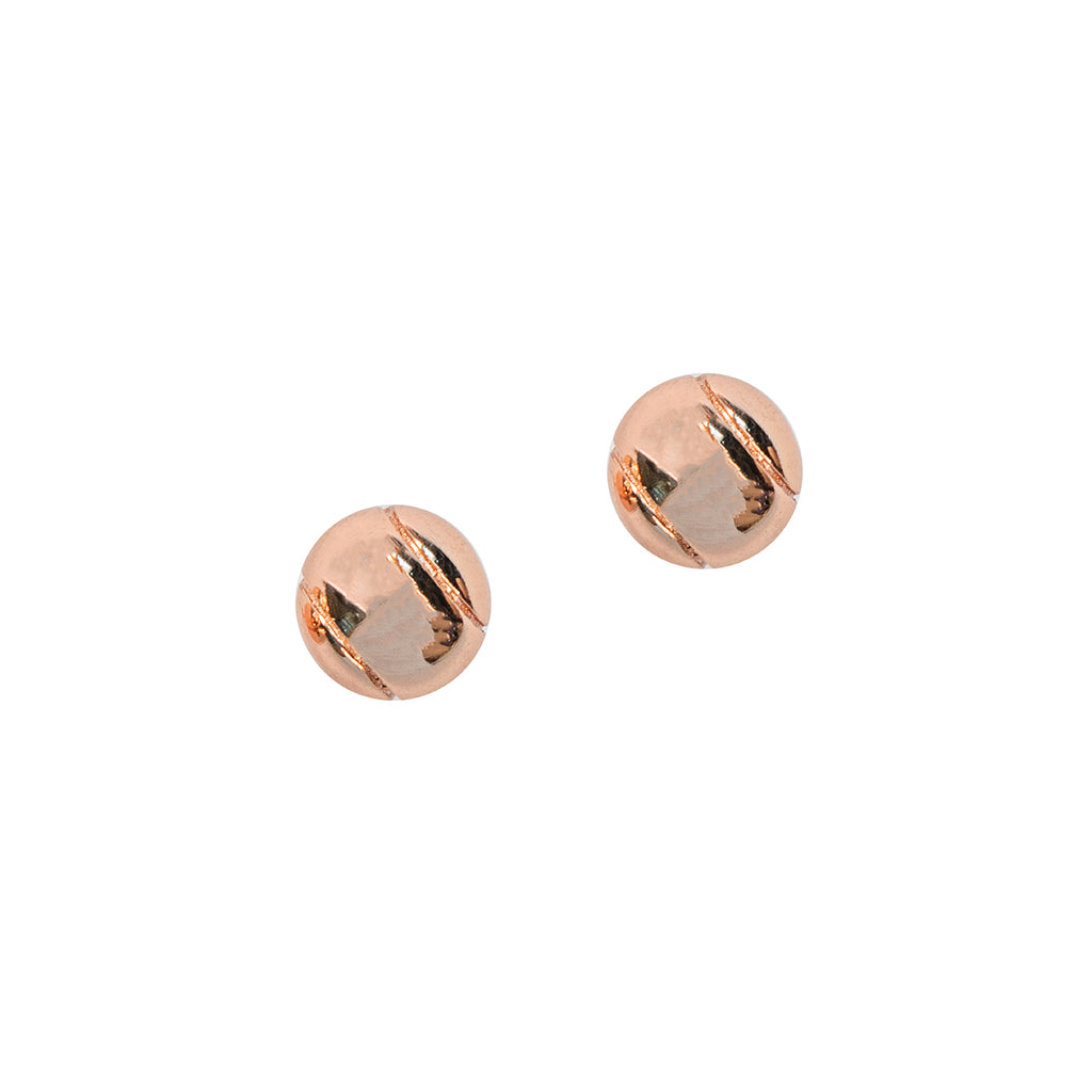 CC Sport Rose Gold Tennis Ball Earrings by Chelsea Charles