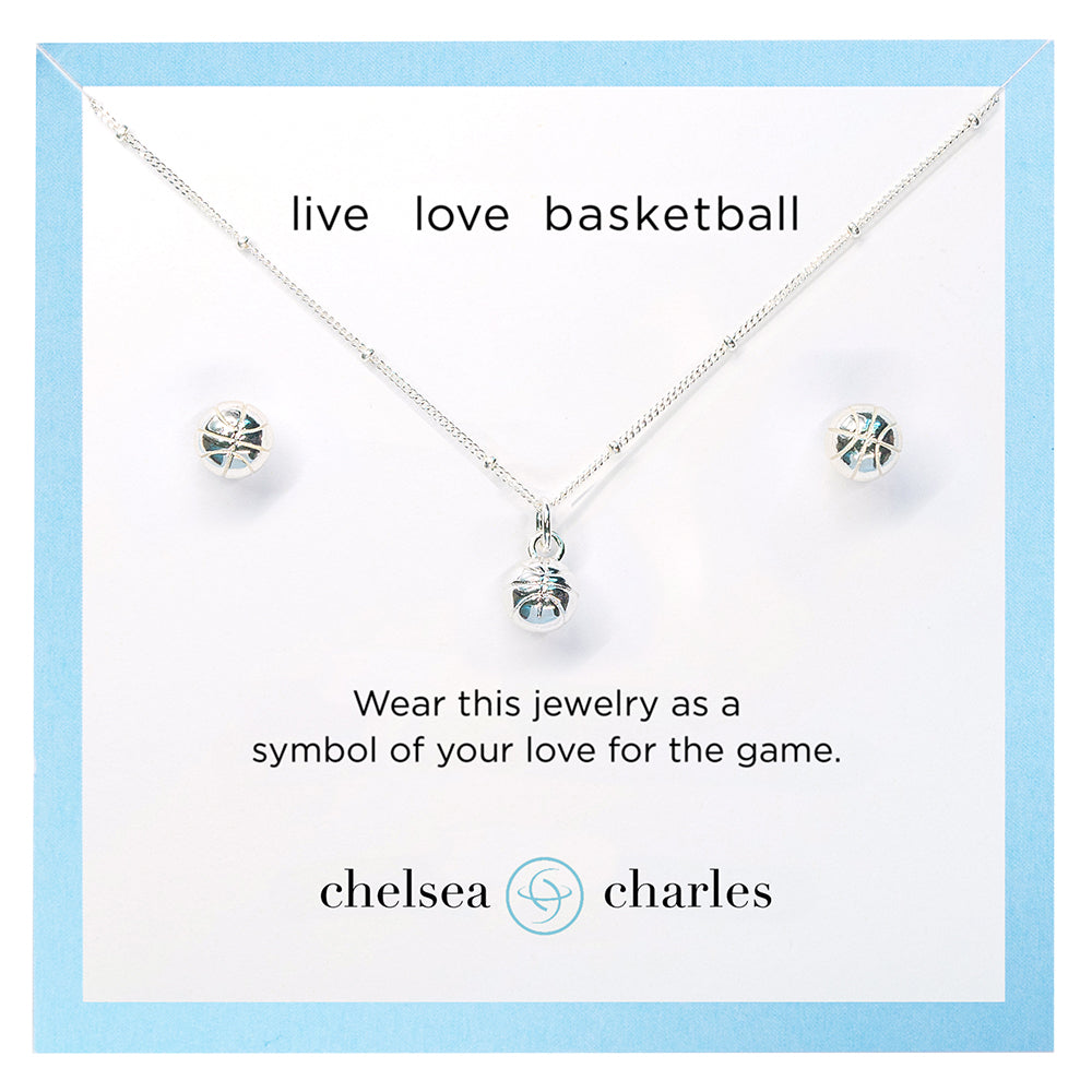 CC Sport Basketball Necklace and Earrings Gift Set