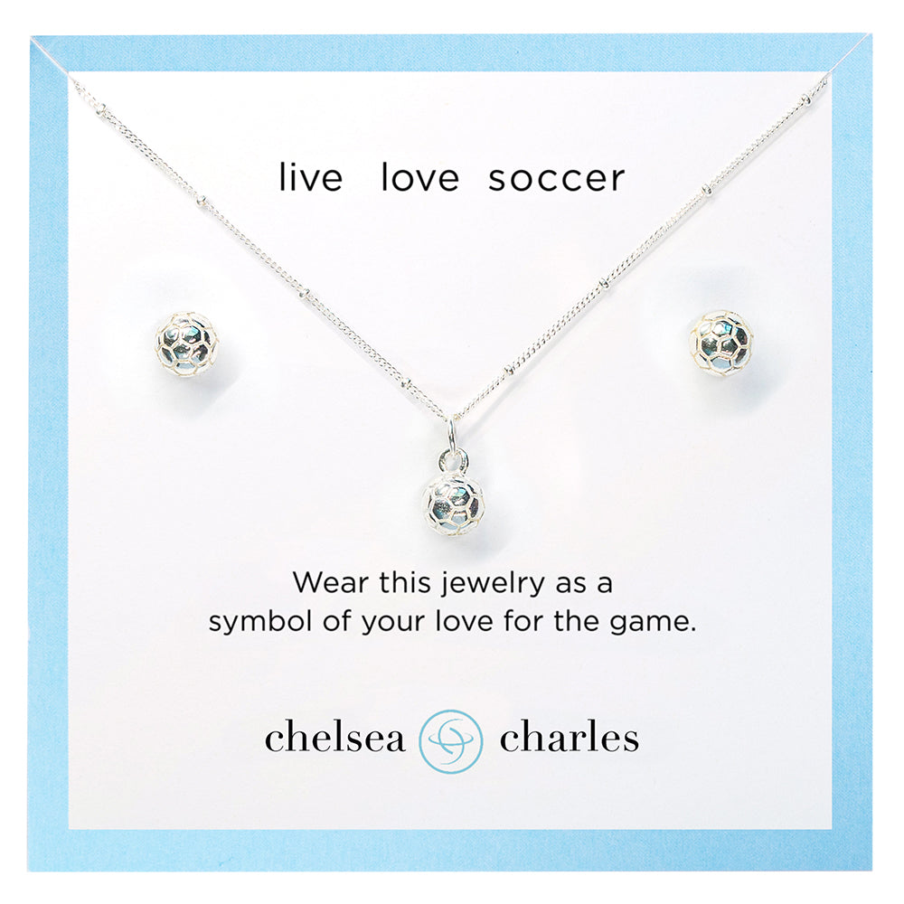 CC Sport Soccer Necklace and Earring Gift Set