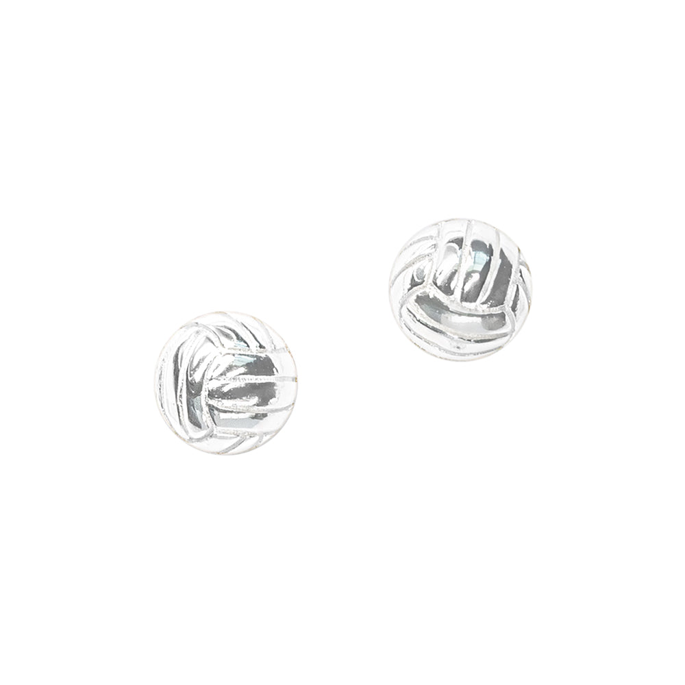 CC Sport Silver Volleyball Earrings by Chelsea Charles