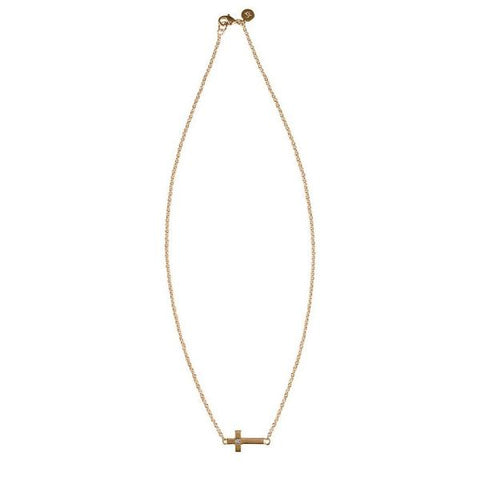Camden Cross Gold Necklace