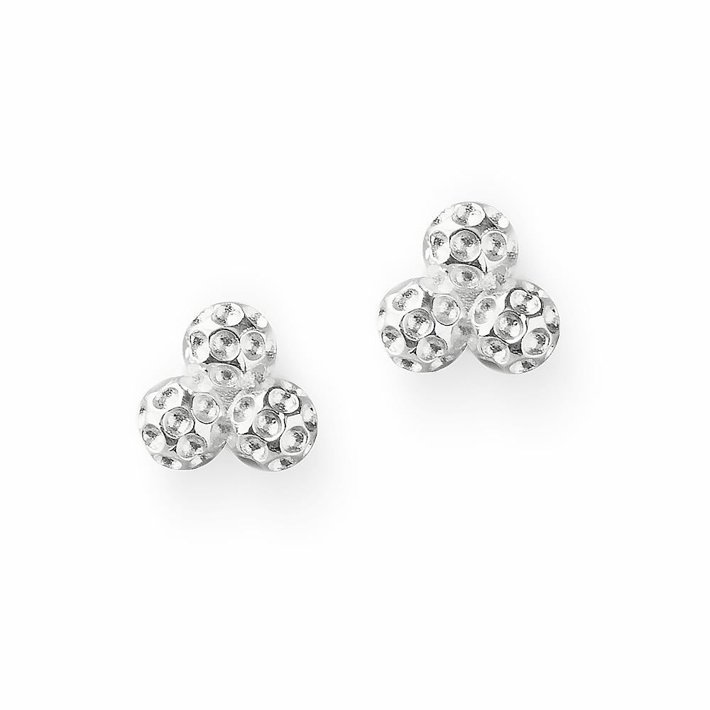 Golf Goddess Silver Cluster Golf Ball Earrings by Chelsea Charles