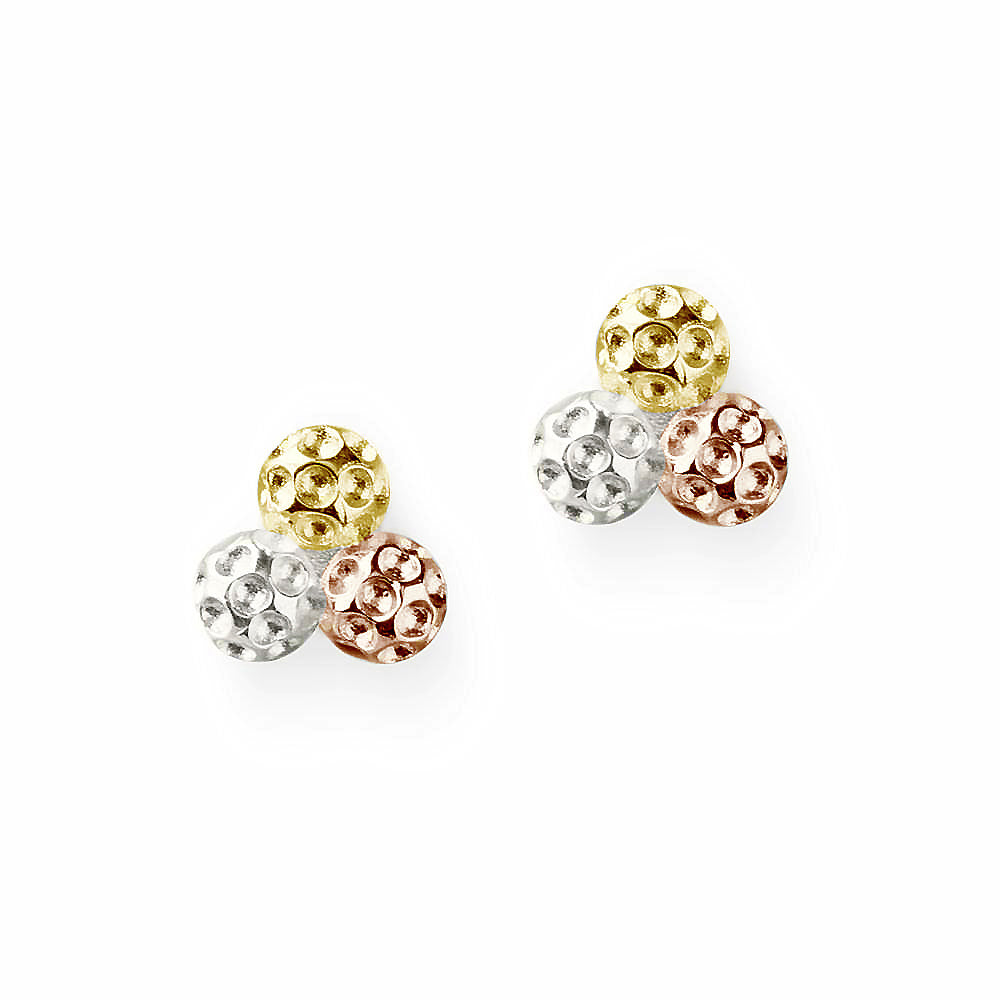 Golf Goddess Tricolor Golf Ball Cluster Earrings by Chelsea Charles