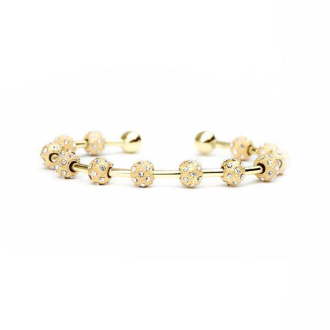 Golf Goddess Gold and Crystal Stroke Counter Bracelet