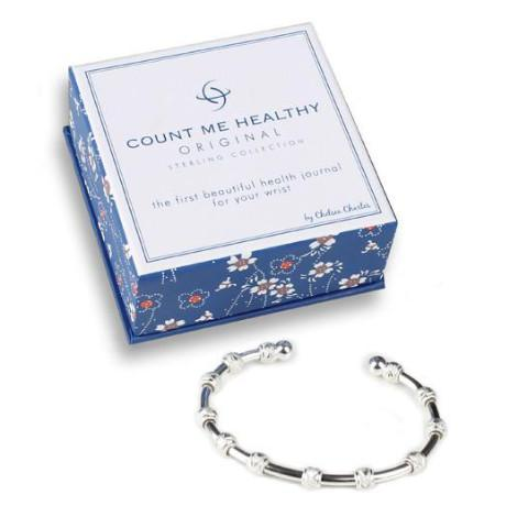 Count Me Healthy Original Silver Bracelet (Best Seller)