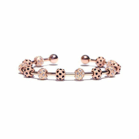 Count Me Healthy Rose Gold Ladybug Crystal Bracelet