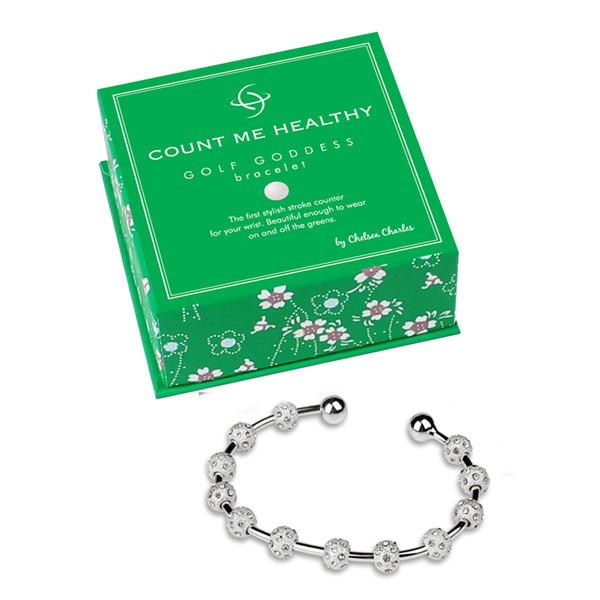 Golf Goddess Silver and Crystal Score Counter Bracelet