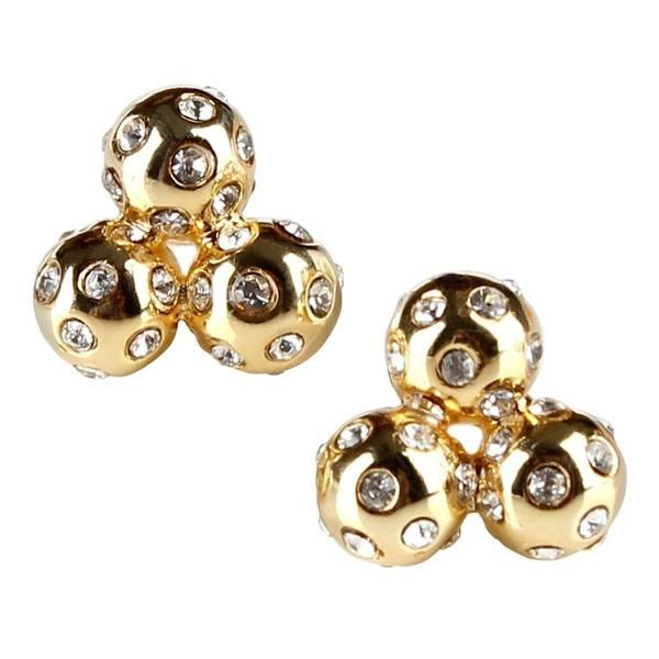 Gold Crystal Cluster Studs
