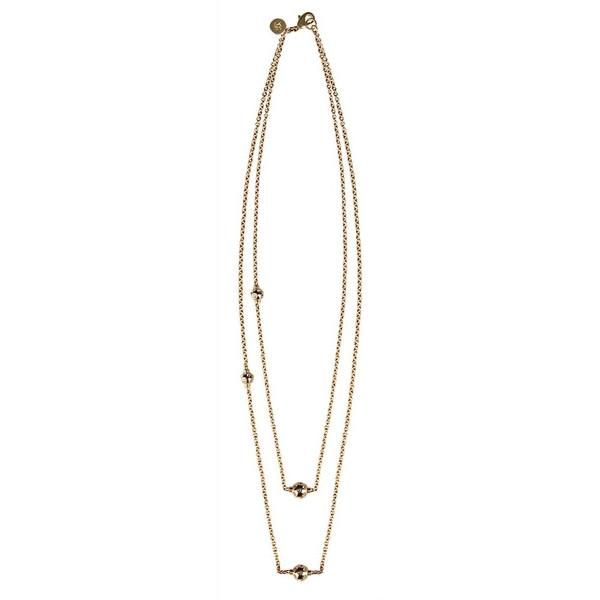 Miranda Double Layer Gold Necklace