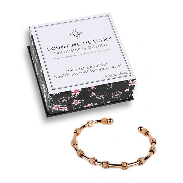 Count Me Healthy Friendship is Rosie Journal Bracelet by Chelsea Charles