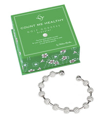 Golf Goddess Silver Golf Ball Bead Score Counter Bracelet