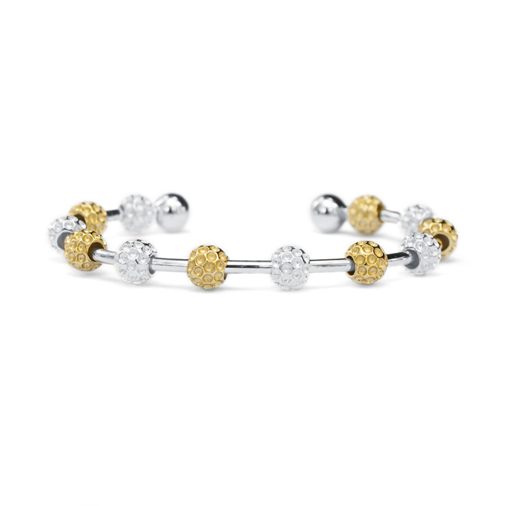 Golf Goddess Two-Tone Golf Ball Bead Stroke Counter Bracelet by Chelsea Charles
