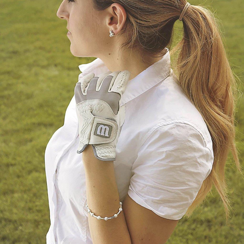 Golf Goddess Silver Stroke Counter Bracelet by Chelsea Charles