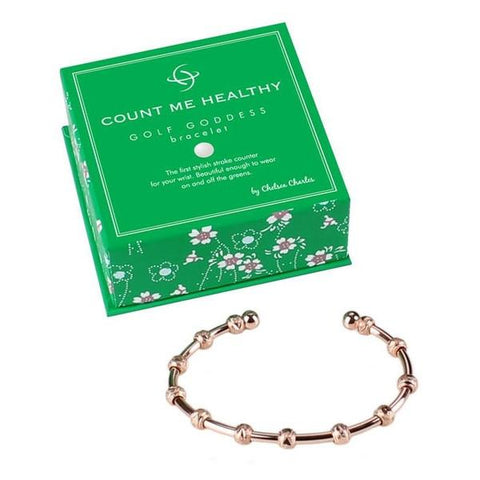 Golf Goddess Rose Gold Score/Stroke Counter Bracelet