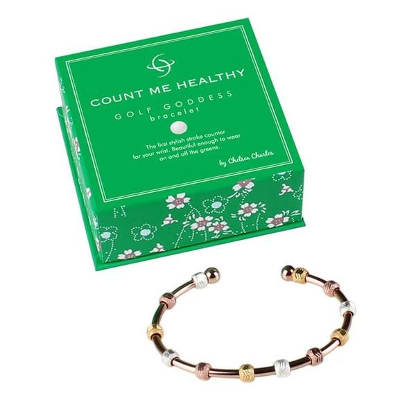 Golf Goddess Rose Gold Tricolor Stroke Counter Bracelet by Chelsea Charles
