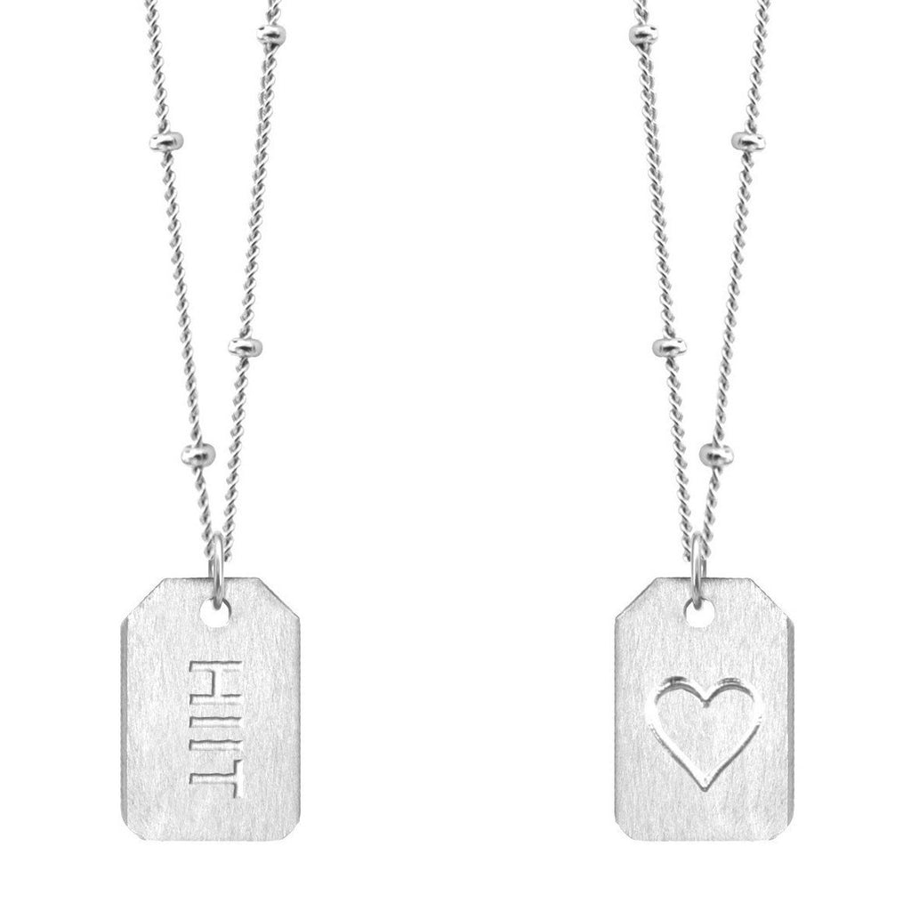 Chelsea Charles HIIT Sterling Silver Love Tag Necklace