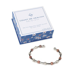 Count Me Healthy Laurel Silver and Rose Gold Bracelet by Chelsea Charles