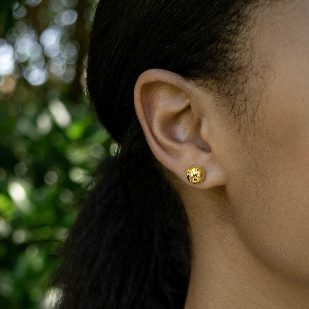 CC Sport Gold Softball Earrings by Chelsea Charles