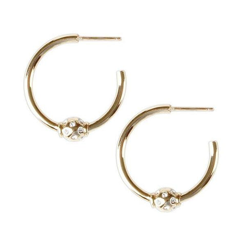 Mini Briley Hoops - Gold