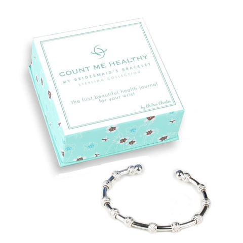 Count Me Healthy My Bridesmaid's Silver Journal Bracelet