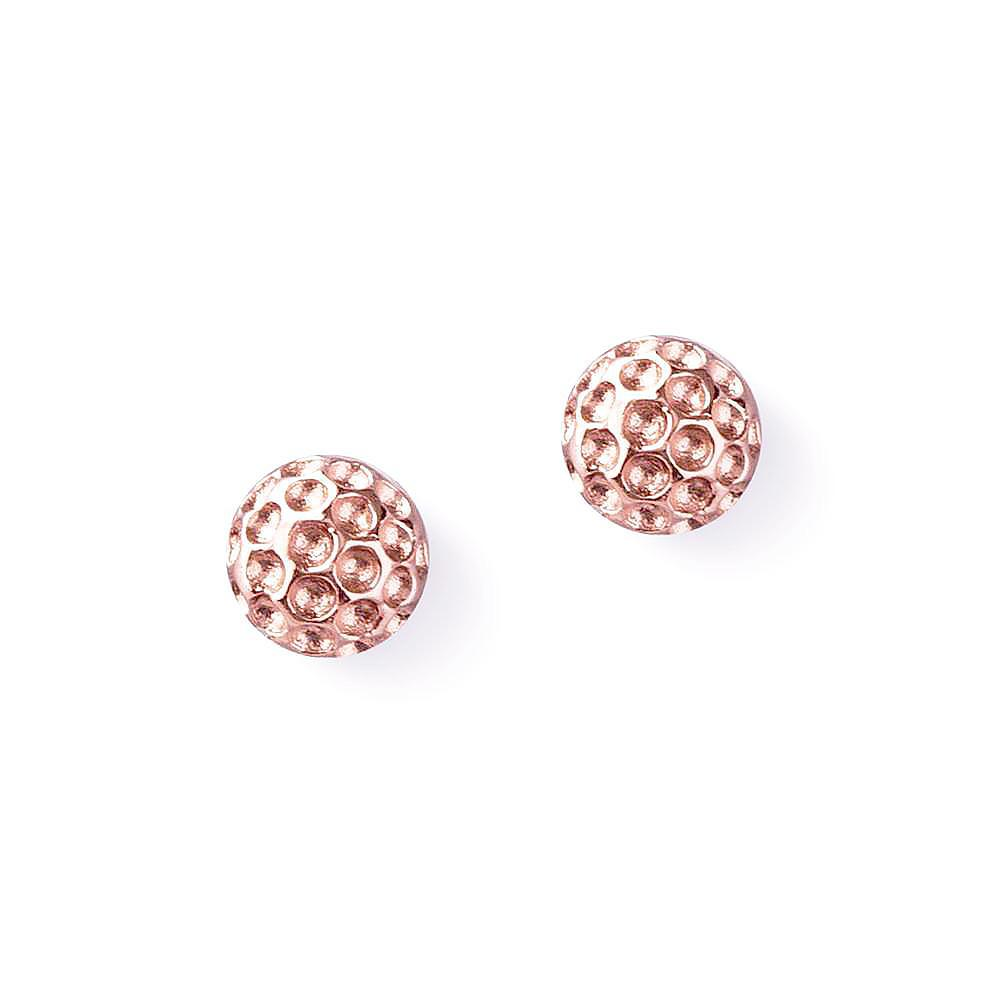 Golf Goddess Rose Gold Golf Ball Earrings by Chelsea Charles