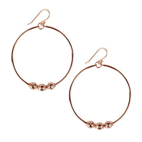 Sabine Hoops Rose Gold