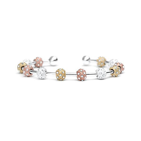 Golf Goddess Crystal Tricolor Stroke Counter Bracelet by Chelsea Charles