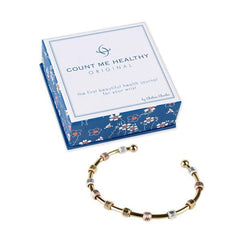 Count Me Healthy Galaxy Tri-Color Bracelet - Gold Cuff