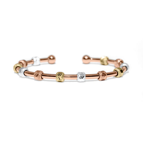 Golf Goddess Rose Gold Tricolor Stroke Counter Bracelet