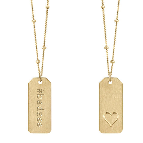 Love Tag Necklace - #badass