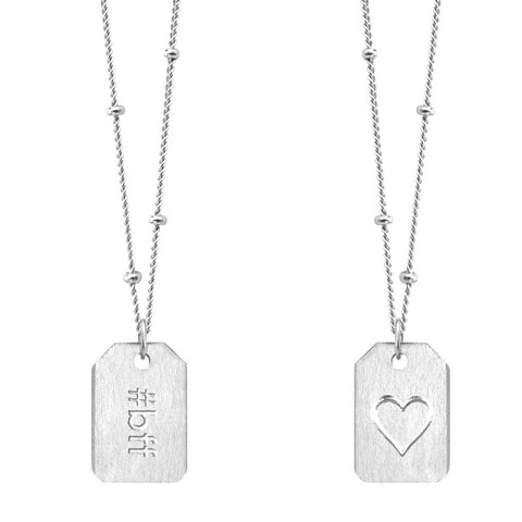 Love Tag Necklace - #bff