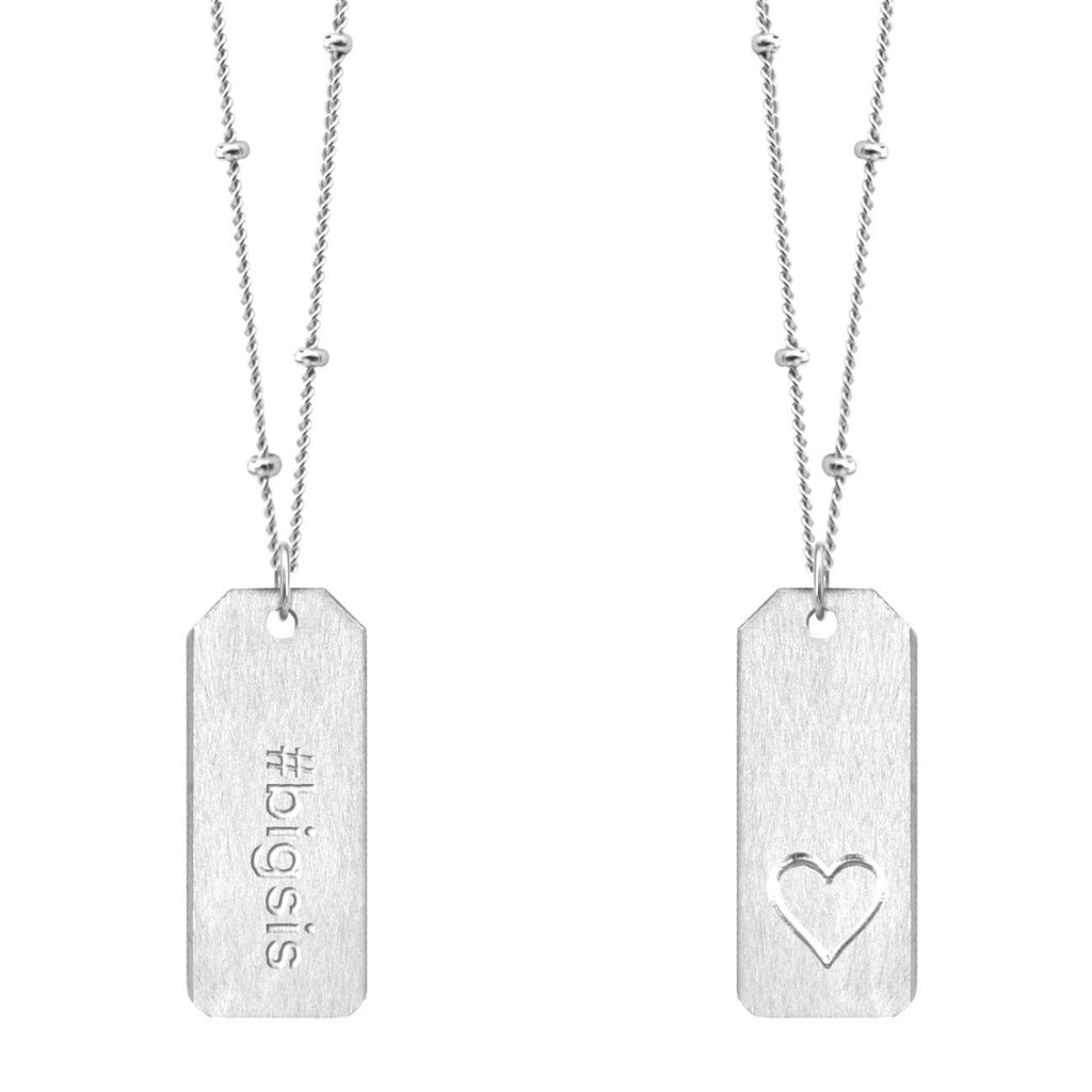 Chelsea Charles #bigsis sterling silver Love Tag necklace