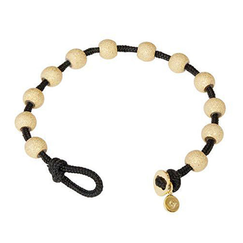 Wrap Bracelet - Black & Gold
