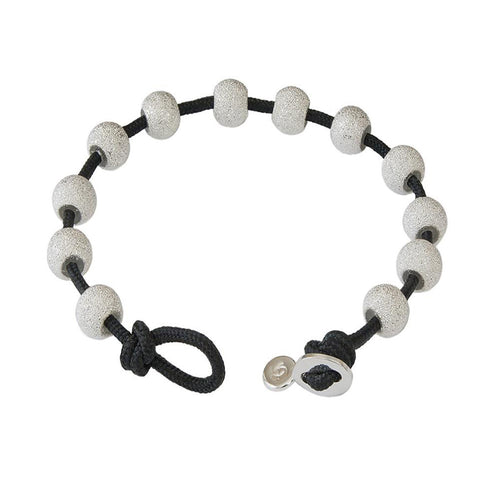 Black & Silver Color Wrap Bracelet