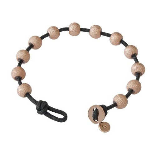 Count Me Healthy Rose Gold and Black Color Wrap Bracelet