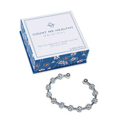 Count Me Healthy Pale Sapphire Crystal Bracelet