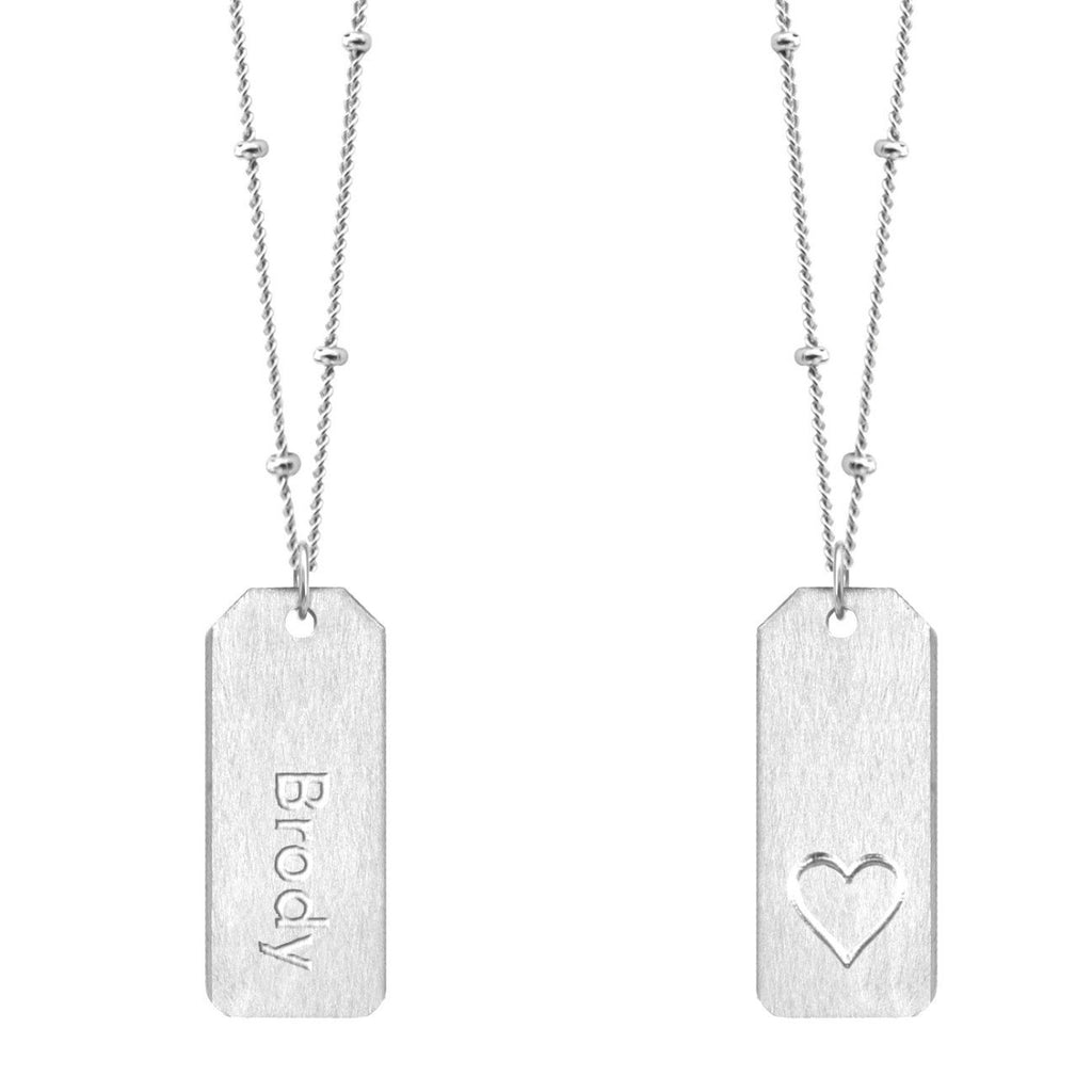 Chelsea Charles Love Tag Necklace: Design Your Own
