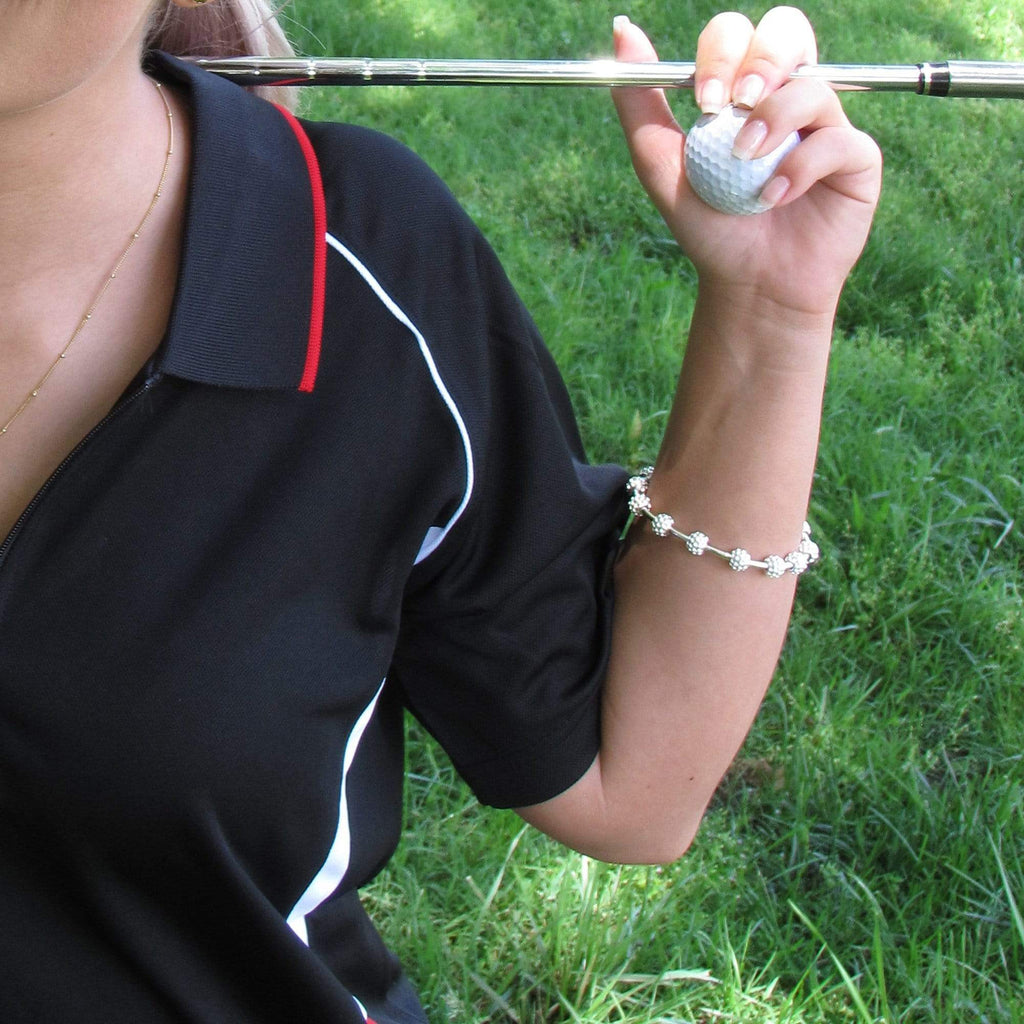 Golf Goddess Silver Golf Ball Bead Score Counter Bracelet by Chelsea Charles