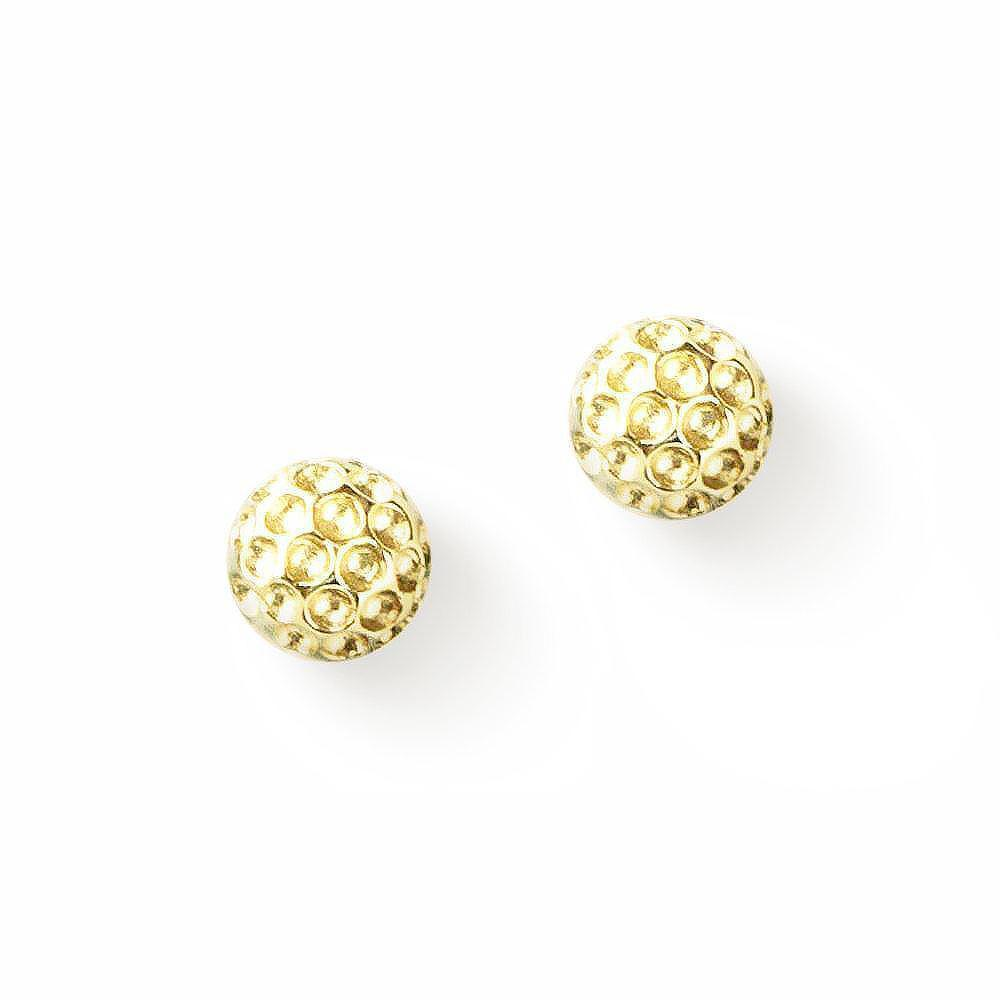 Golf Goddess Gold Golf Ball Earrings by Chelsea Charles