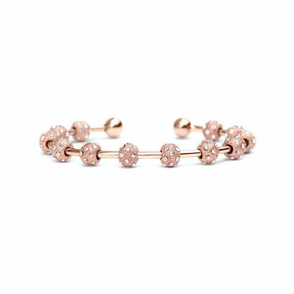Count Me Healthy Crystal & Rose Gold Bracelet