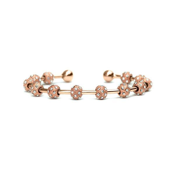 Golf Goddess Rose Gold Crystal Score Counter Bracelet by Chelsea Charles