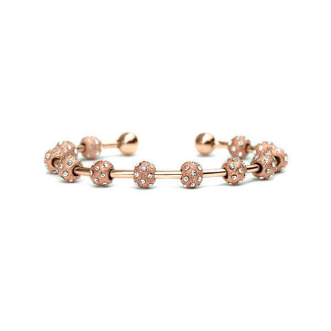 Golf Goddess Rose Gold and Crystal Stroke Counter Bracelet